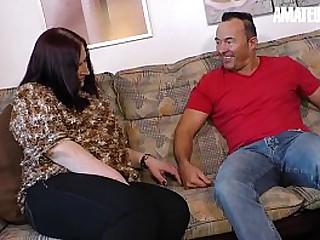AMATEUR EURO - Sexy BBW Granny SucksAnd Fucks Hard With Her Husband