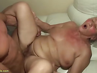 big natural breast 77 years old granny gets extreme rough big cock fucked by her muscle toyboy