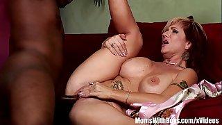 Mom Brittany Blaze Spreads For Big Black Cock