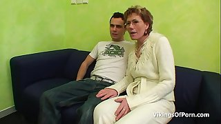 Sexy Grandma Gets Old Pussy Fucked By Young Cock